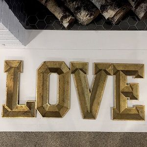 "MICHAELS // gold letter ""LOVE"""